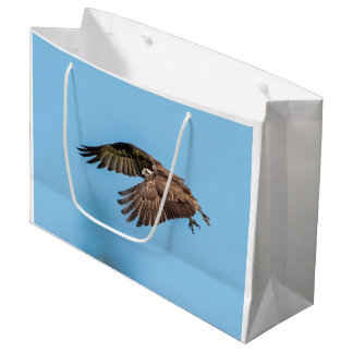 Osprey in flight at Honeymoon Island State Park Large Gift Bag