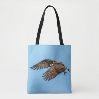 Osprey in flight at Honeymoon Island State Park Tote Bag