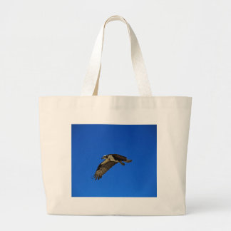 Osprey in Flight II Large Tote Bag