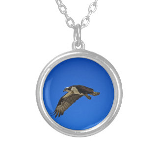 Osprey in Flight II Silver Plated Necklace