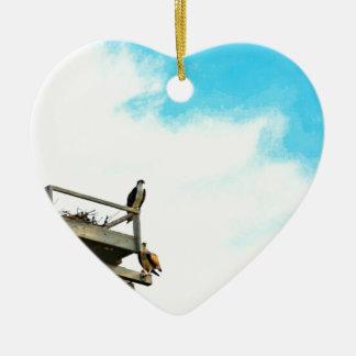 Osprey Nest Ceramic Heart Decoration