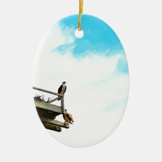 Osprey Nest Ceramic Oval Decoration