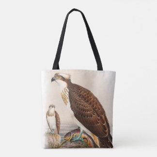 Osprey Sea Hawk John Gould Birds of Great Britain Tote Bag