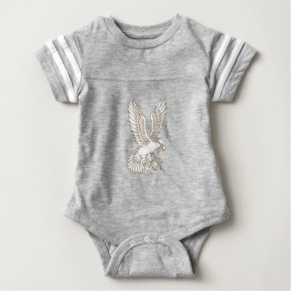 Osprey Swooping Drawing Baby Bodysuit
