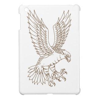 Osprey Swooping Drawing iPad Mini Cases