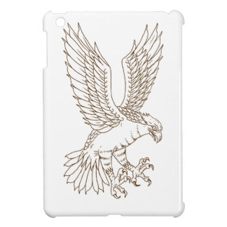 Osprey Swooping Drawing iPad Mini Cover