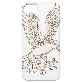 Osprey Swooping Drawing iPhone 5 Cover
