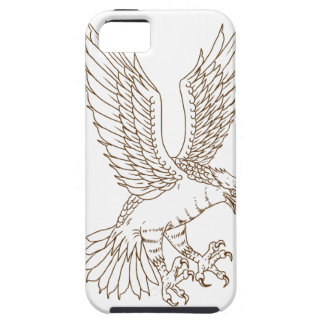 Osprey Swooping Drawing iPhone 5 Covers