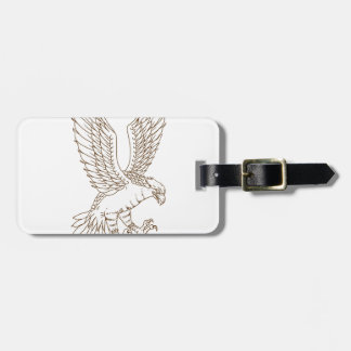 Osprey Swooping Drawing Luggage Tag