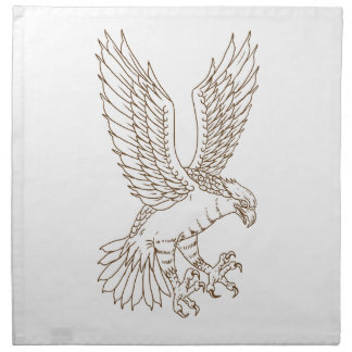 Osprey Swooping Drawing Napkin