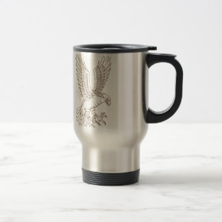 Osprey Swooping Drawing Travel Mug