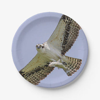 Osprey with a fish 7 inch paper plate