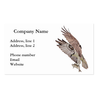 Osprey with a fish pack of standard business cards