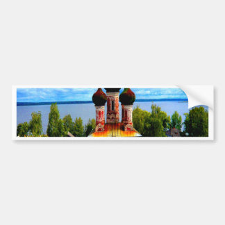 ostashkov russia river lake water church bumper sticker