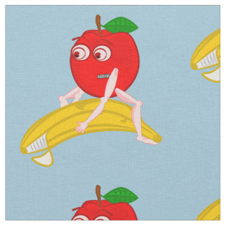 Osteopath Fruit Funny Apple Straightening a Banana Fabric
