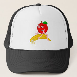 Osteopath Fruit Funny Apple Straightening a Banana Trucker Hat