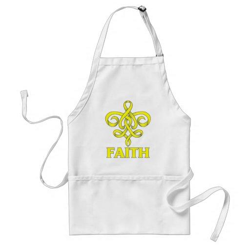 Osteosarcoma Faith Fleur de Lis Ribbon Aprons