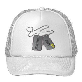 Osteosarcoma Survivor Dog Tags Trucker Hat