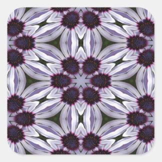 Osteospermum Abstract Square Sticker
