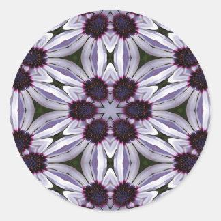 Osteospermum Abstract Round Sticker