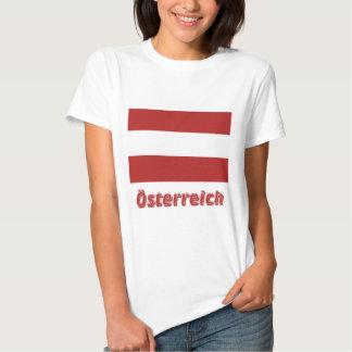 Österreich bürgerliche Flagge mit deutschem Namen Tee Shirts