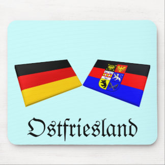 Ostfriesland, Germany Flag Tiles Mouse Pad