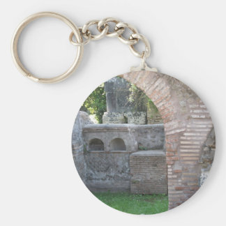Ostia Antica  - Harbour City of Ancient Rome Basic Round Button Key Ring