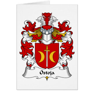 Ostoja Family Crest Greeting Cards