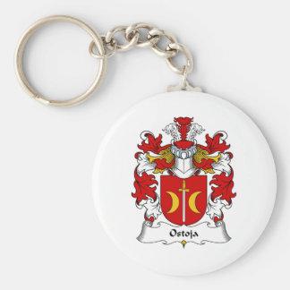 Ostoja Family Crest Key Ring
