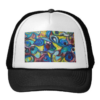 Ostracized Fishes (abstract expressionism) Mesh Hat