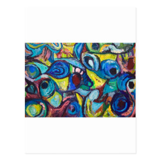 Ostracized Fishes (abstract expressionism) Postcard