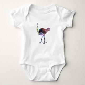 Ostrich art baby bodysuit