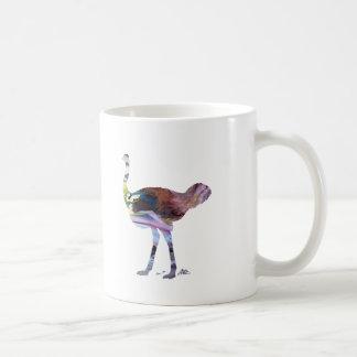 Ostrich art coffee mug
