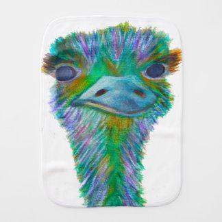 Ostrich Baby Burp Cloth