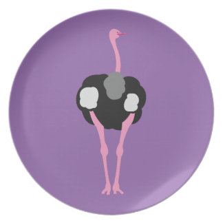 Ostrich Bird Plate