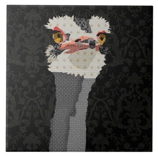Ostrich Black Tile