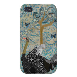 Ostrich Blue Boho i Covers For iPhone 4