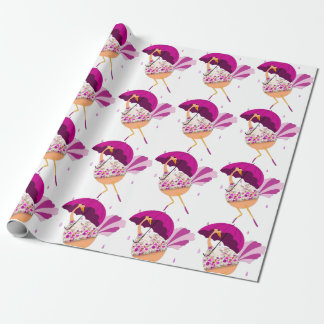 Ostrich Bridal or Baby Shower Wrapping Paper