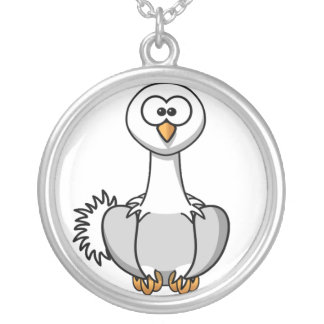 Ostrich Cartoon Necklace