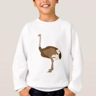 Ostrich drawing - wild bird sweatshirt