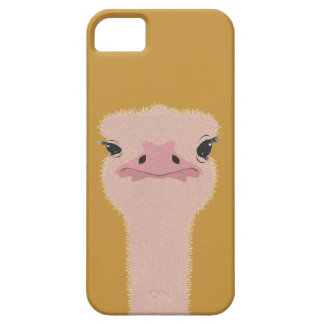 Ostrich funny face iPhone 5 case
