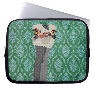 Ostrich Green Computer Sleeve