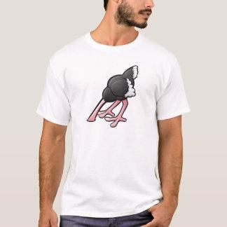 Ostrich Head Buried Cartoon Character T-Shirt