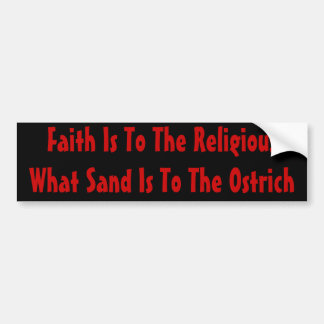 Ostrich Religion Bumper Sticker
