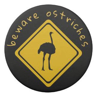 ostrich road sign - eraser