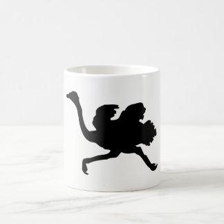 Ostrich Silhouette Coffee Mug