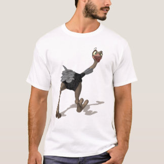 Ostrich T-Shirt - Digital Painting T-Shirt