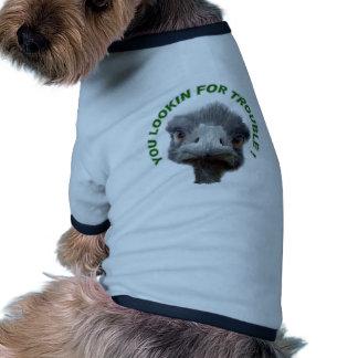 Ostrich trouble ringer dog shirt