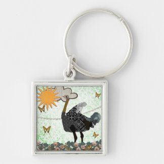 Ostrich You Are My Sunshine  Keychain