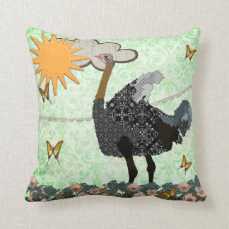 Ostrich You Are My Sunshine Mojo Pillow Throw Cushion